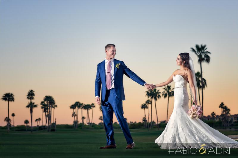 McCormick Ranch Golf Wedding Scottsdale Sunset Photos