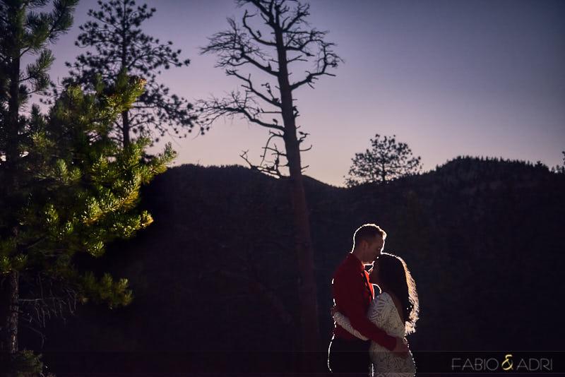 Night Engagement Photo Mt Charleston