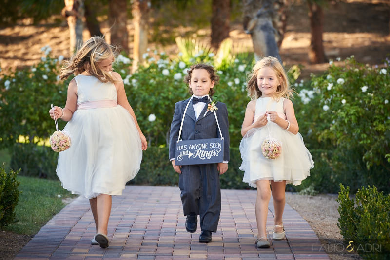 Flowers girls and ring bearer processional