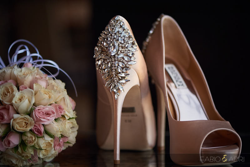 Badgley Mischka blush shoes wedding