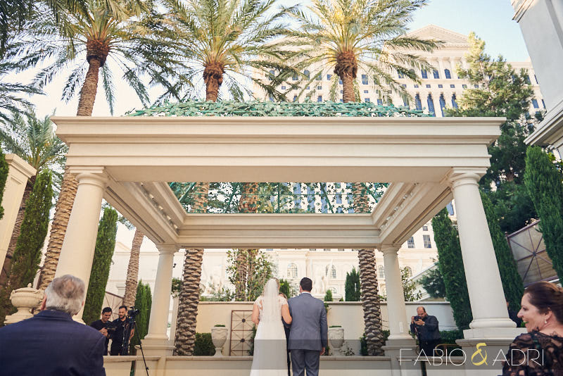 Caesars Palace Wedding Juno Garden Ceremony