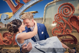 The Neon Museum Elopement – Katie & Andrew
