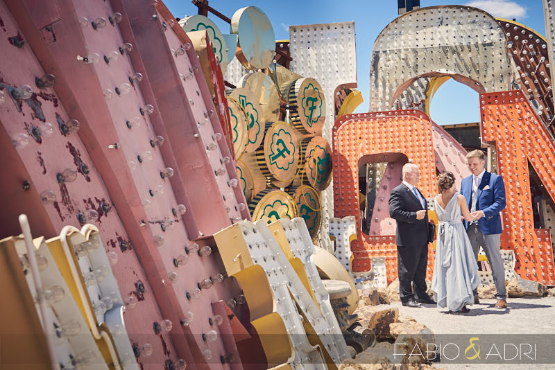 Neon Museum North Gallery Wedding Ceremony