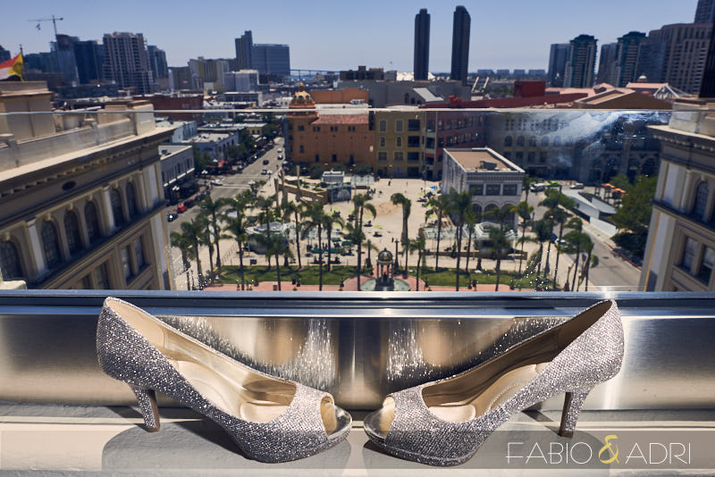 Downtown San Diego Wedding Shoes