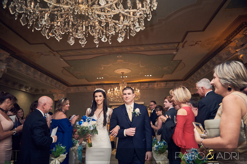 US Grant Opulent Crystal Ballroom Wedding Ceremony