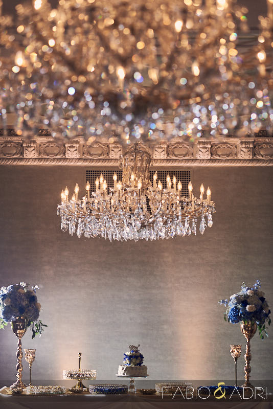 US Grant Opulent Crystal Ballroom Wedding Reception