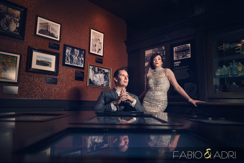MOB Museum Wedding 1920s styled shoot