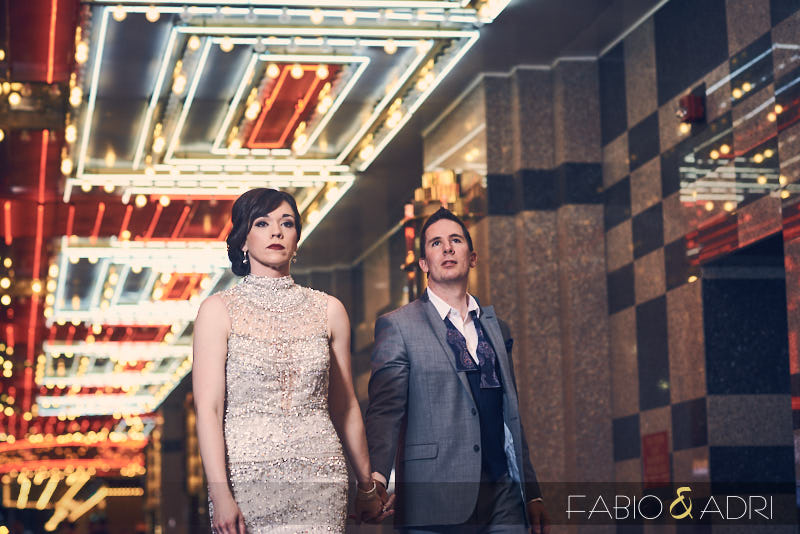 Fremont Street Wedding Photos