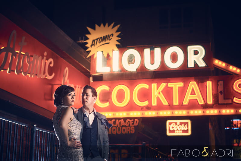 Atomic Liquors Styled Wedding Photo Shoot