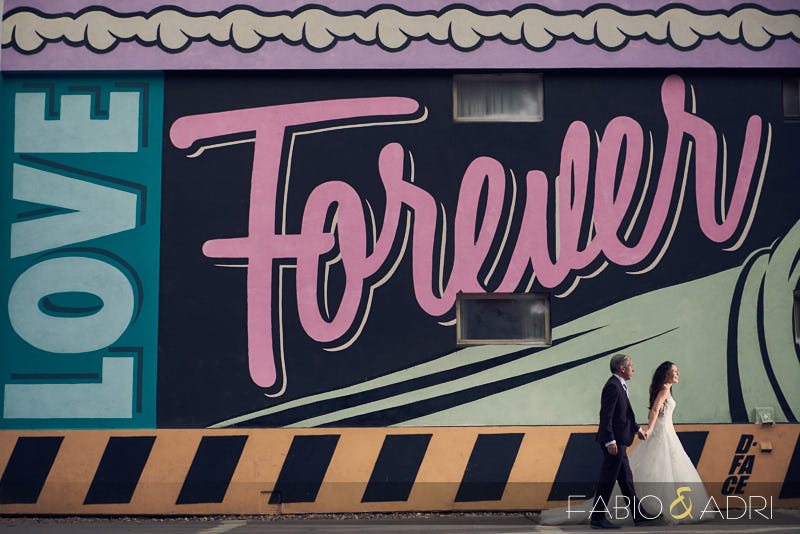 DTLV Wedding Photo Session Love Forever Mural
