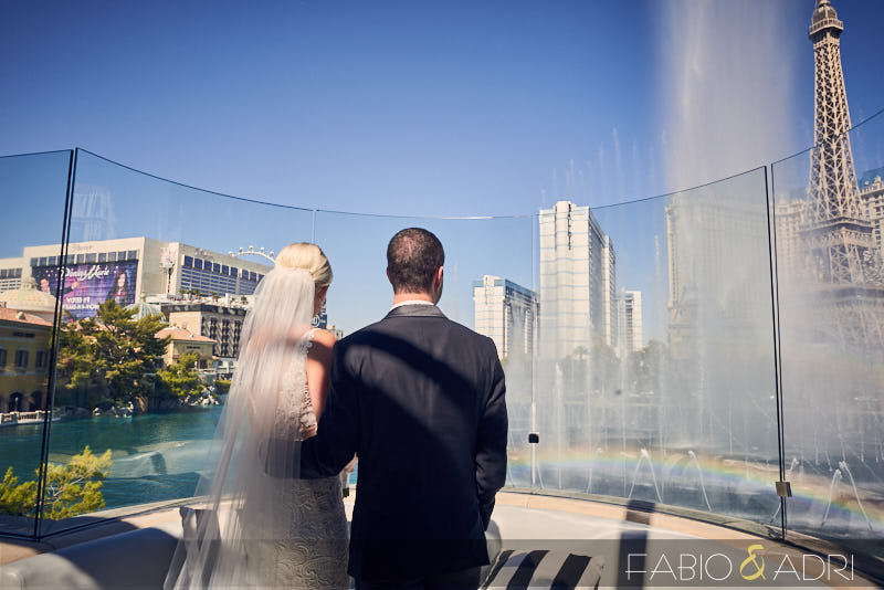 Hyde Bellagio Wedding Ceremony Fountains