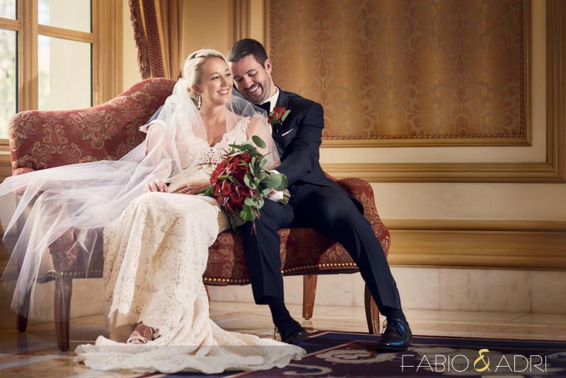 Bellagio Las Vegas Wedding Bride and Groom