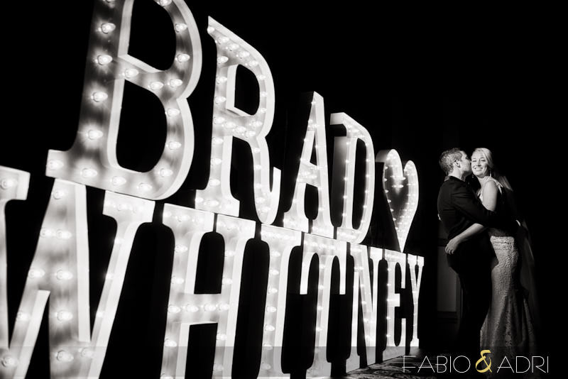 Bride and Groom Photo Marquee Lights