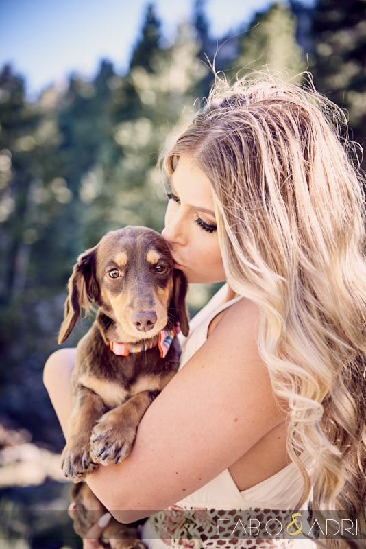 Puppy Kisses Engagement Session