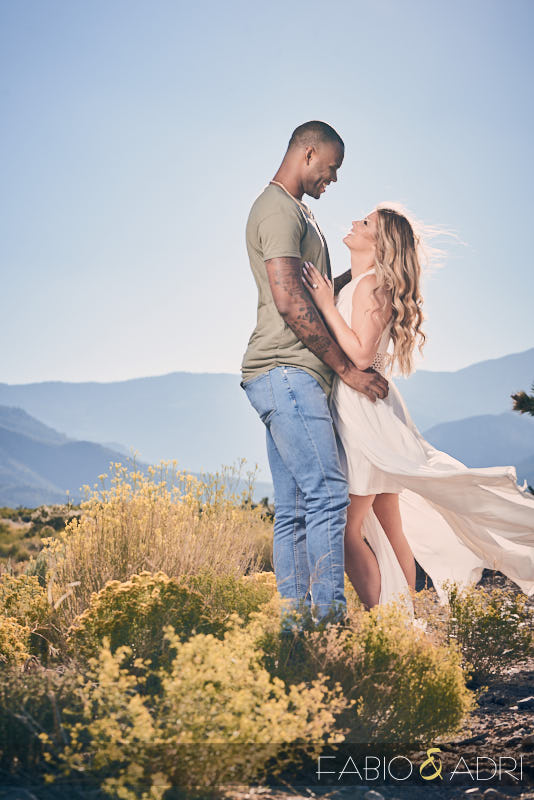 Las Vegas Desert Engagement Photos