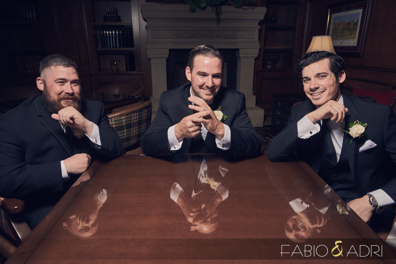 Groom And Groomsmen at Southern Highlands Library Las Vegas
