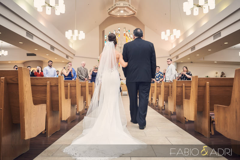 Wedding Ceremony at St Peter The Apostle Catholic Church Henderson