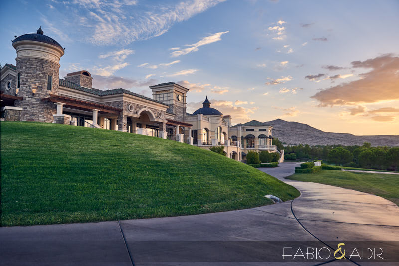 Southern Highlands Golf Club Wedding Las Vegas Sunset