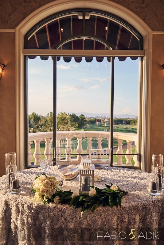 Sweet Heart Table at Reception at Southern Highlands Wedding Las Vegas