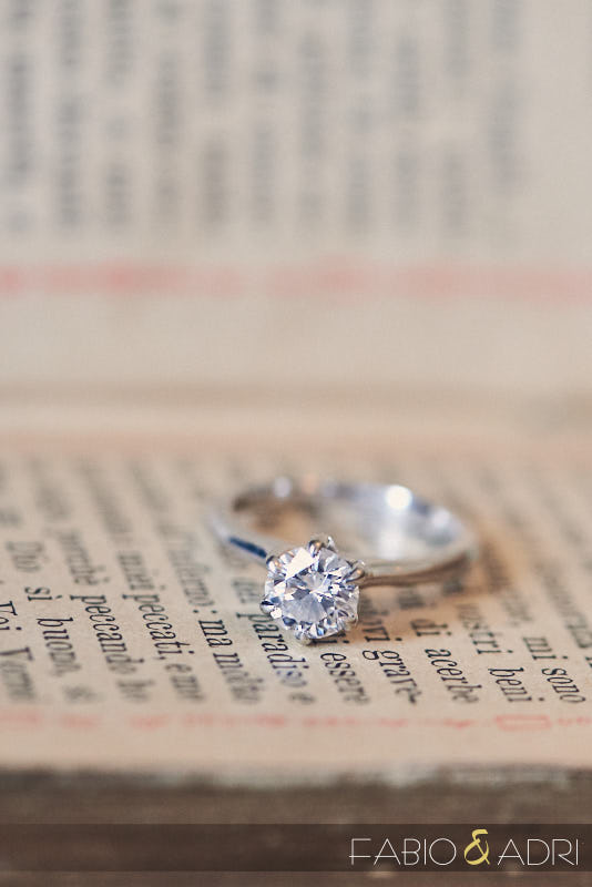 Engagement Ring Detail on Scripture