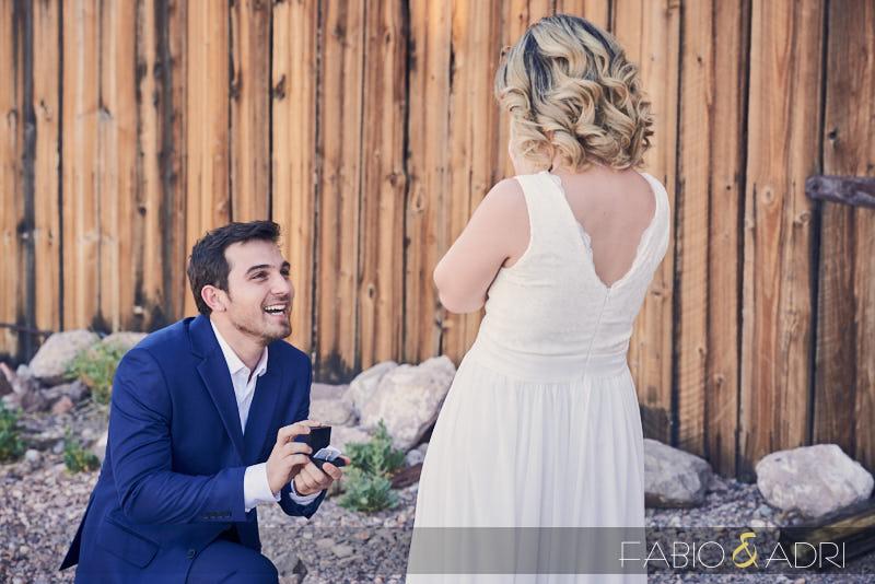 Surprise Engagement Proposal Las Vegas