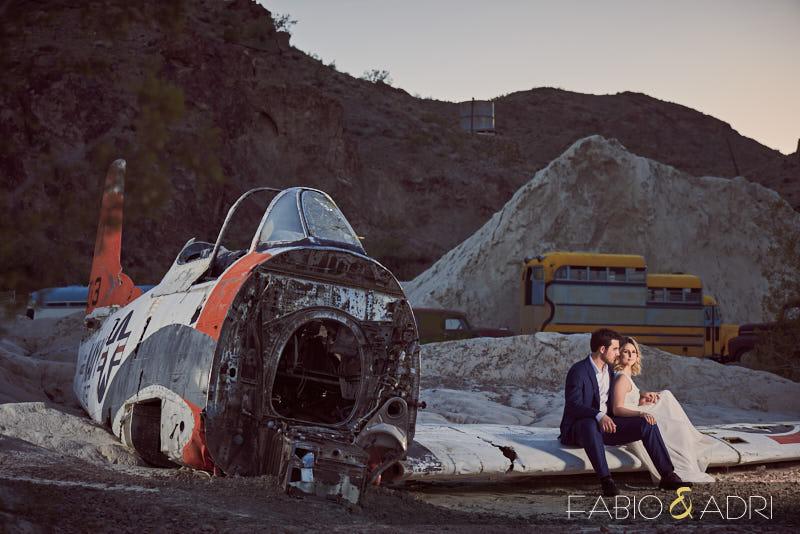 Crashed Airplane Engagement Photo Eldorado Canyon