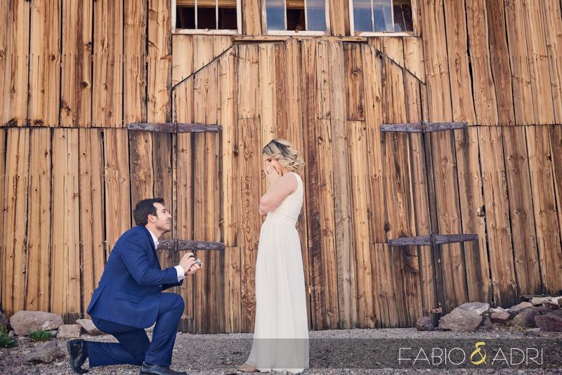 Surprise Engagement Proposal Eldorado Canyon