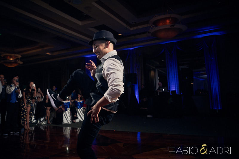 Groom Wedding Reception Dance Performance at Dragon Ridge Ballroom
