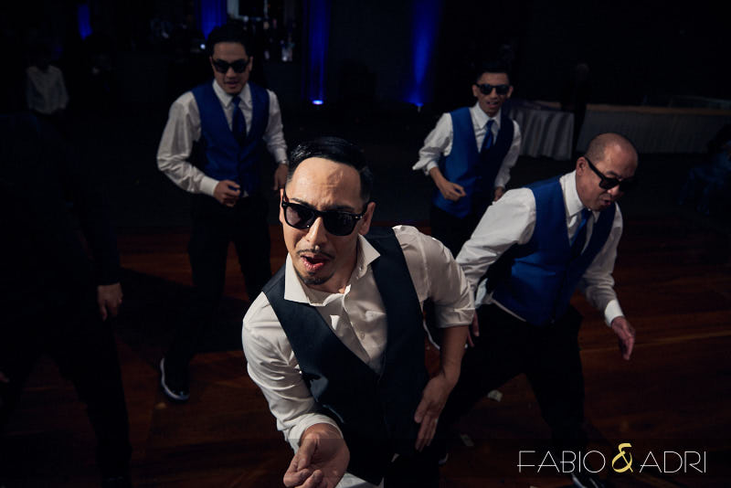 Groom and Groomsmen Wedding Reception Dance Performance