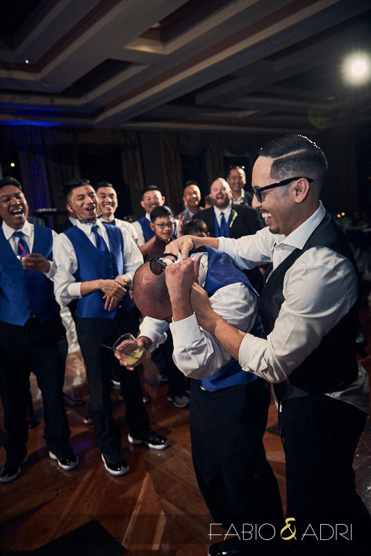 Garter Toss Las Vegas Wedding