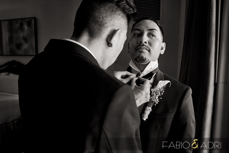 Groom Getting Ready Las Vegas Wedding