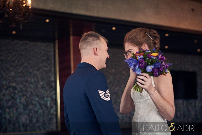 Sweet Wedding First Look Las Vegas