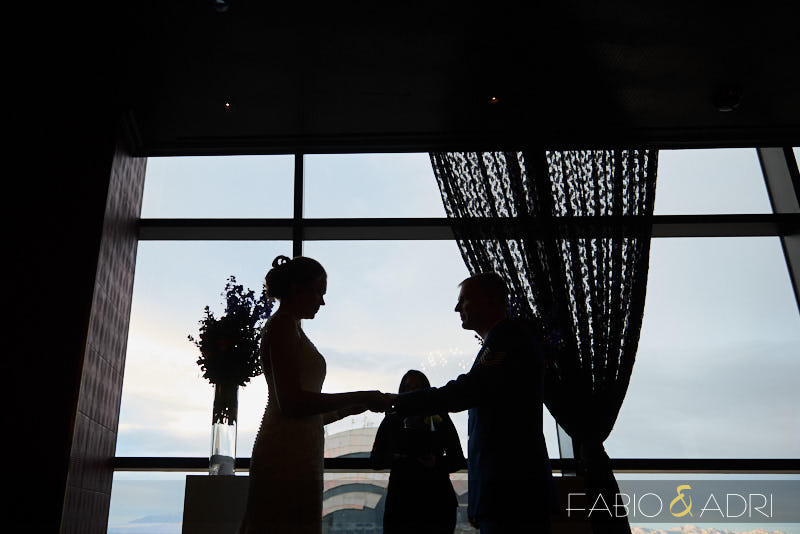 Palms Wedding Ceremony Silhouette