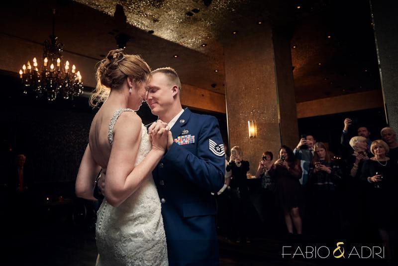 Sweet First Dance Moment Las Vegas Wedding