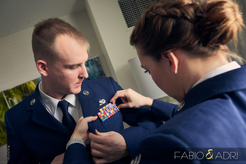 Air Force Groom and  His Best Woman