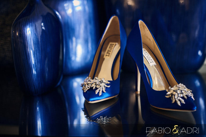 Blue Shoes Detail Shot by Badgley Mischka