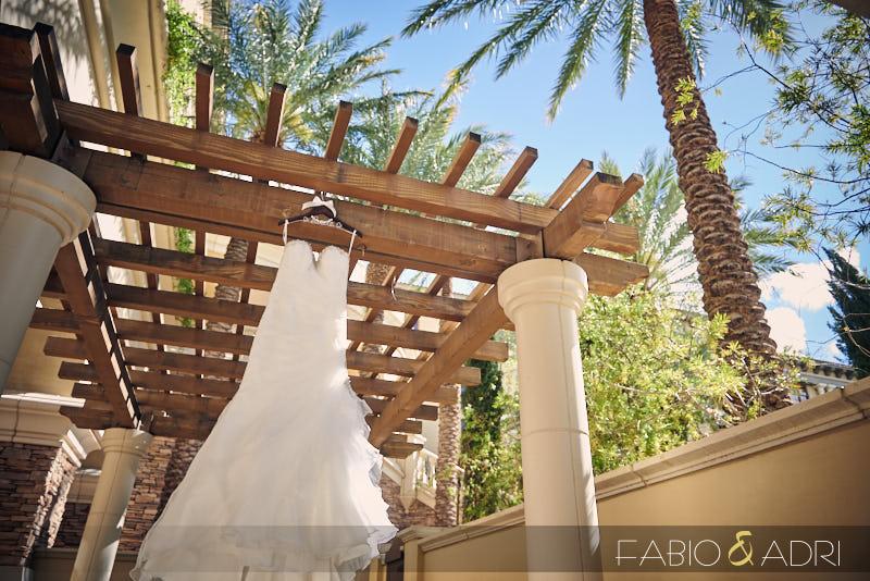 Wedding Dress Hanging Green Valley Ranch Las Vegas