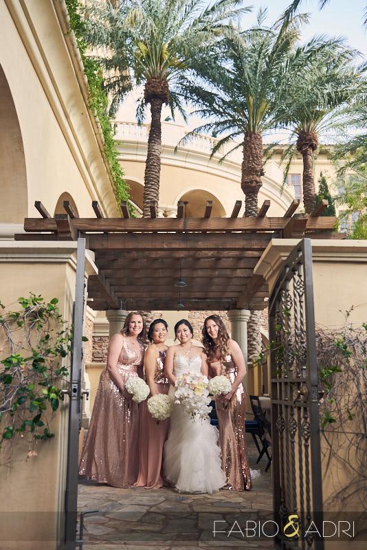 Bride and Bridesmaids Green Valley Ranch Las Vegas