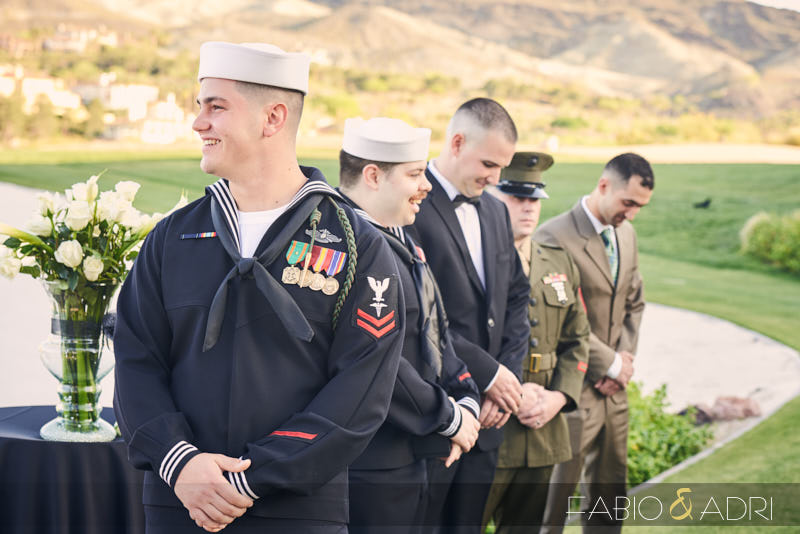 Reflection Bay Lake Las Vegas Military Wedding