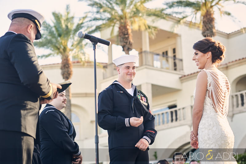 Reflection Bay Lake Las Vegas Ceremony Military Wedding