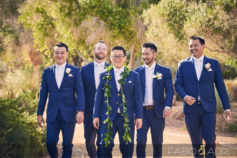 Groom and Groomsmen at Lake Las Vegas Wedding