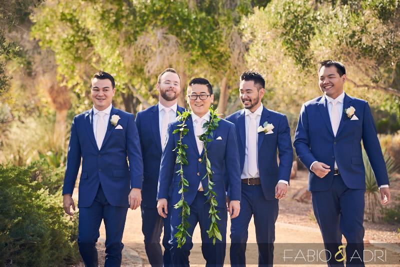 Groom and Groomsmen at Lake Las Vegas Wedding