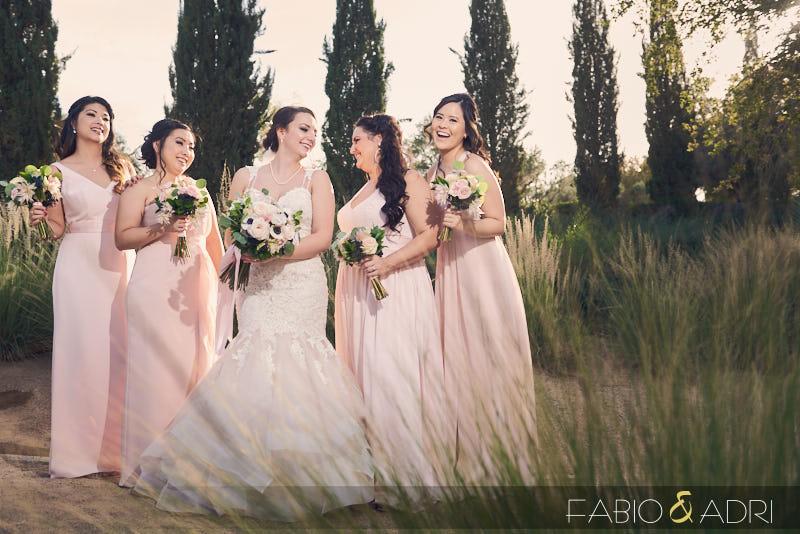 Bride and Bridesmaids at Lake Las Vegas Wedding