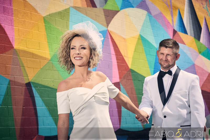 Fremont East Mural Wedding Photos