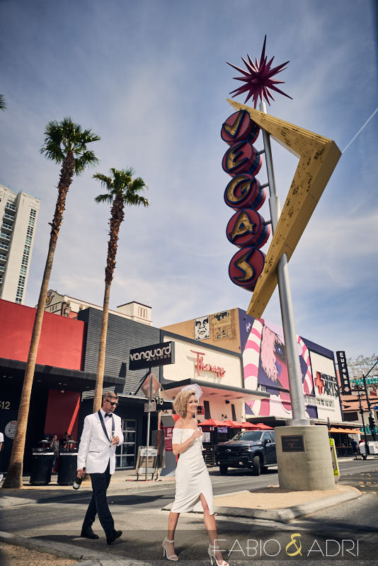 Fremont East Colorful Elopement Photos