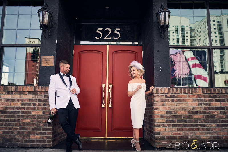 Common Wealth Stylish Wedding Elopement Couple