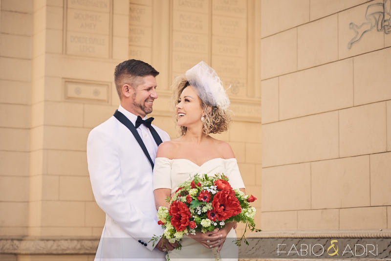 Paris Las Vegas Arch Wedding Photos
