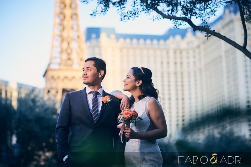 Paris Las Vegas Wedding Photo Session