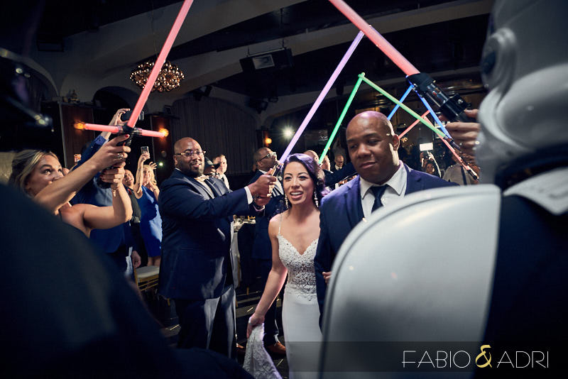 Light Saber Grand Entrance Star Wars Hyde Bellagio Wedding