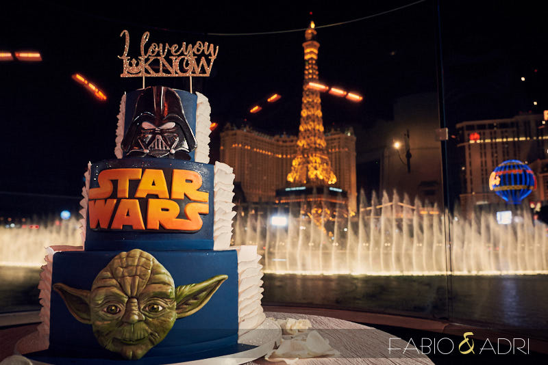 Dark Side Cake Star Wars Wedding Bellagio Fountains